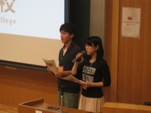 3S-E近藤さんと3Z森谷さんによるプレゼン