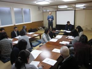 (1)地区父母会総会での横田会長の挨拶